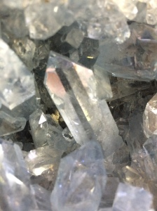 Celestite (SrSO4), close-up
